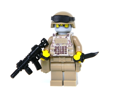 Modern Combat Soldier With Digital Camouflage Minifigure