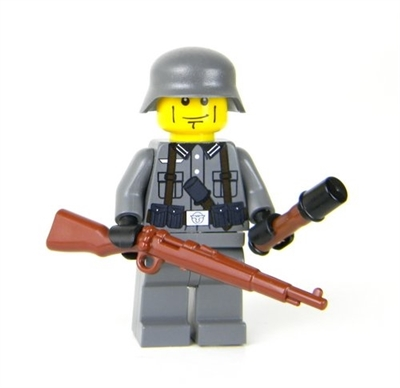Ww2 German Soldier With Kar98 Minifigure