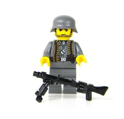 Custom German Ww2 Mg Gunner Minifigure