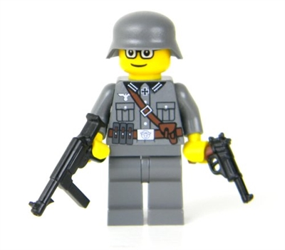 Ww2 German Soldier Mp40 Minifigure