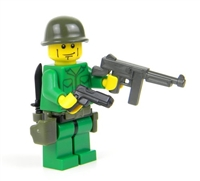 WW2 U.S. Army Soldier SMG Minifigure