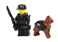 Swat Police Officer K9 Minifigure