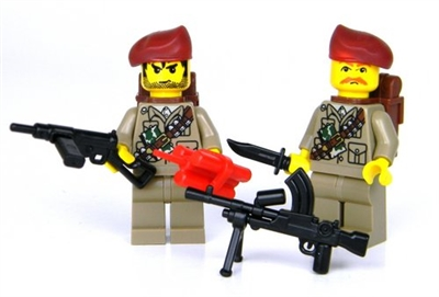 Ww2 British Sas Soldier Minifigures