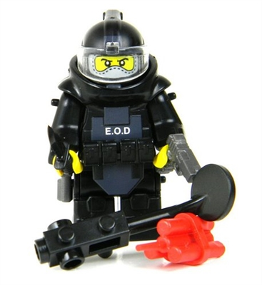 Bomb Squad Explosive Disposal Specialist (Eod) Minifigure