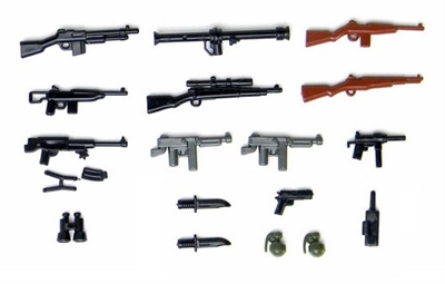 Us Ww2 Weapons Pack Minifigures