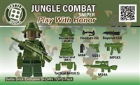 Army Jungle Sniper Weapons Pack (9 Pieces)