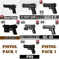 Pistol Pack V1 Minifigures
