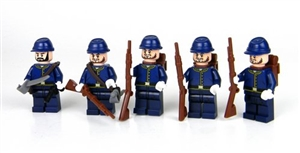 Union Army Squad Soldier Minifigures