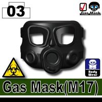 M17 Gas Mask Compatible With Brick Mini-Figures