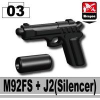 M9 Pistol W/ Silencer