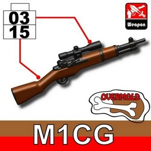Overmolded M1 Garand With Sniper Scope Ww2 Rifle