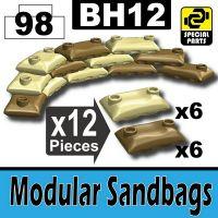 Bh12-1 Tan And Dark Tan Desert Sandbags