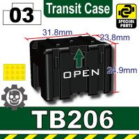 Black Tb206 Military Transit Case Minifigure