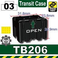 Black Tb206 Military Transit Case Minifigure