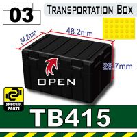 Black Tb415  Military Transit Box Minifigure