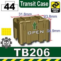 Dark Tan Tb206 Military Transit Case Minifigures