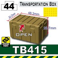 Dark Tan Tb415 Military Transportation Box Minifigure