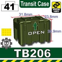 Tank Green Tb206 Military Transit Case Minifigure