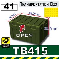 Tb415 Tank Green Military Transportation Box Minifigure