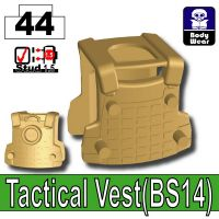 Dark Tan Tactical Vest Bs14 Minifigure