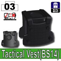 Black Tactical Vest Bs14 Minifigures