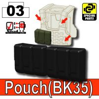 Black Tactical Pouch Bk35 Minifigure