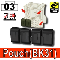 Black Tactical Pouch Bk31 Minifigure