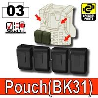 Black Tactical Pouch Bk31 Minifigure