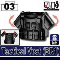 Minifigure Tactical Vest Black Br1