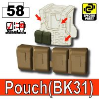 Deep Bronze Brown Tactical Pouch Bk31 Minifigure