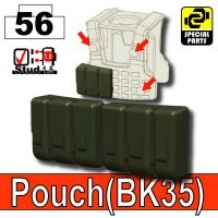 Deep Gray Green Tactical Pouch Bk35 Minifigure