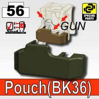 Deep Gray Green Tactical Pistol Holster Bk36 Minifigure