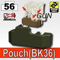 Deep Gray Green Tactical Pistol Holster Bk36 Minifigure