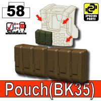 Deep Brown Bronze Tactical Pouch Bk35 Minifigure