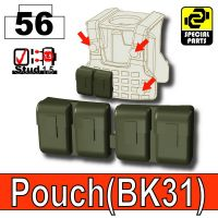 Deep Gray Green Tactical Pouch Bk31 Minifigure
