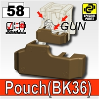 Deep Bronze Brown Tactical Pistol Holster Bk36 Minifigure
