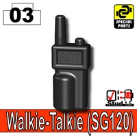Black Minifigure Walkie Talkie