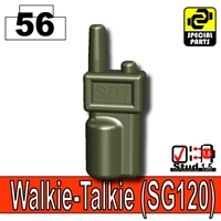 Deep Gray Green Minifigure Walkie Talkie