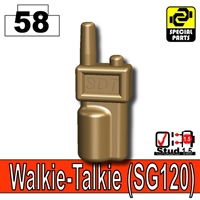 Deep Bronze Brown Minifigure Walkie Talkie