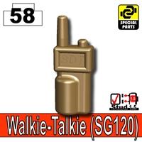 Deep Bronze Brown Minifigure Walkie Talkie