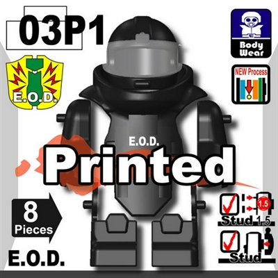 Black Printed Eod Bomb Suit