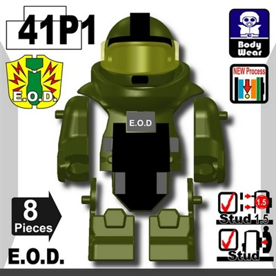 Tank Green Printed Eod Bomb Suit