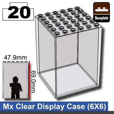 Minifigure Display Case (6 X 6)