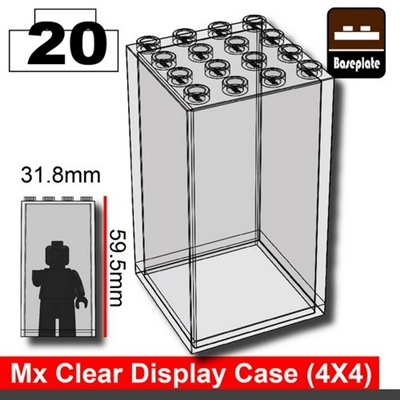 Minifigure Display Case (4 X 4)