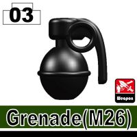 Black Minifigure Grenade