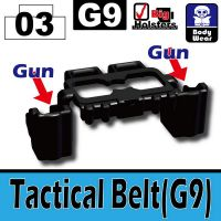 Black Minifigure Tactical Belt G9 Dual Holster