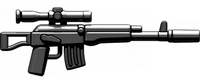 Ak-Sv Minifigure Russian Sniper Rifle