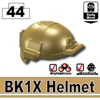 Dark Tan Minifigure Bk1X Tactical Helmet