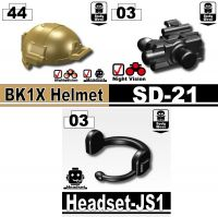 Advanced Army Dark Tan Bk1X + Headset Js1 + Sd-21 Assault Helmet