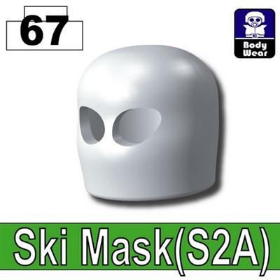 White Minifigure Ski Mask Balaclava
